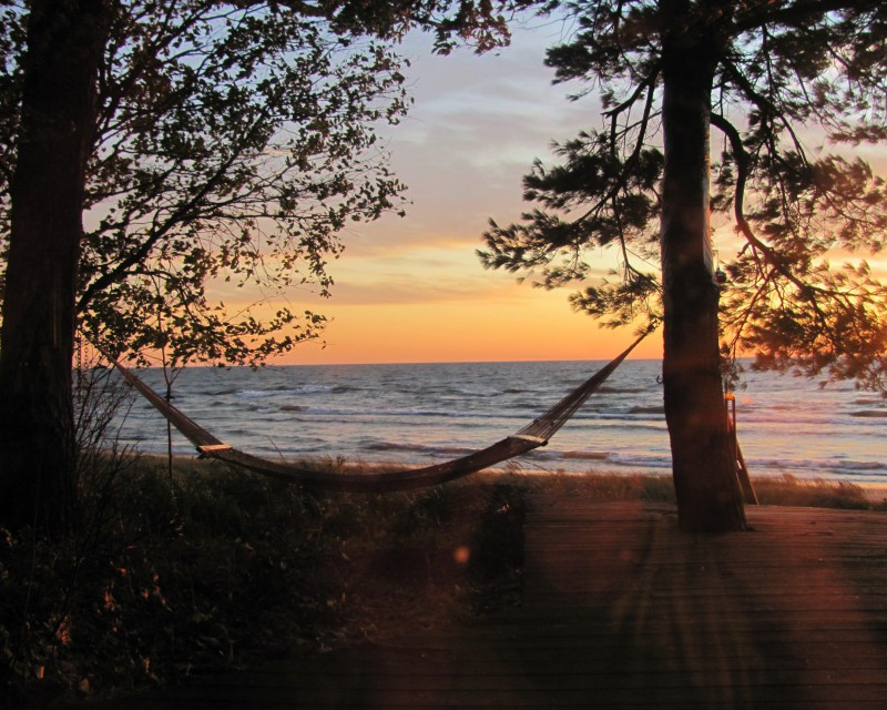 Lake Michigan at sunset