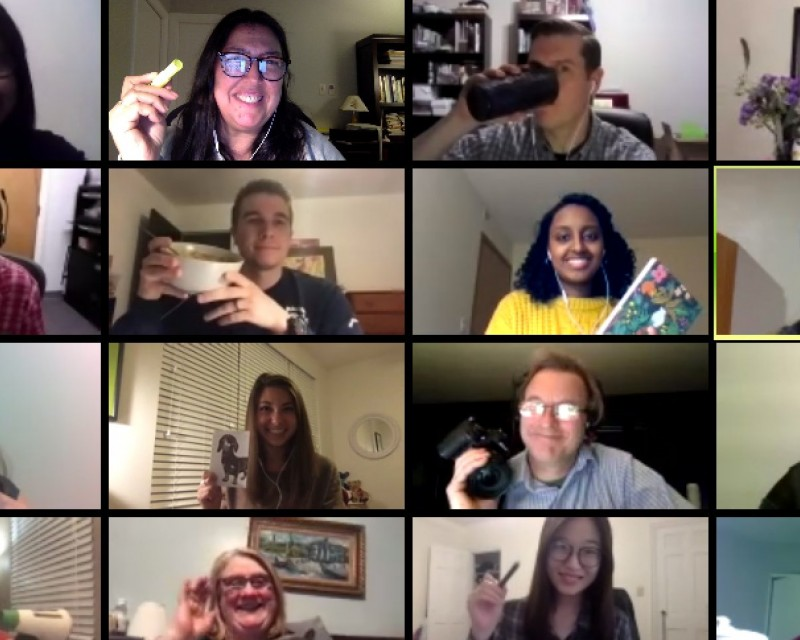 Attendees participating in virtual meeting